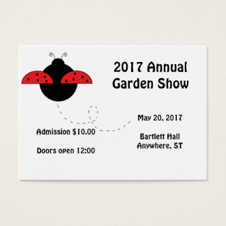 Ladybug Design-Your-Own Tickets