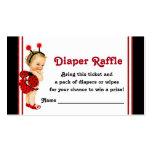 Ladybug Diaper Raffle Tickets Business Card