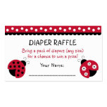 Ladybug Diaper Raffle Tickets Double-Sided Standard Business Cards (Pack Of 100)