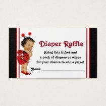Ladybug Diaper Raffle Tickets Ethnic Baby Girl