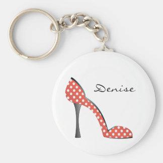 Ladybug Dot Shoe Keychains