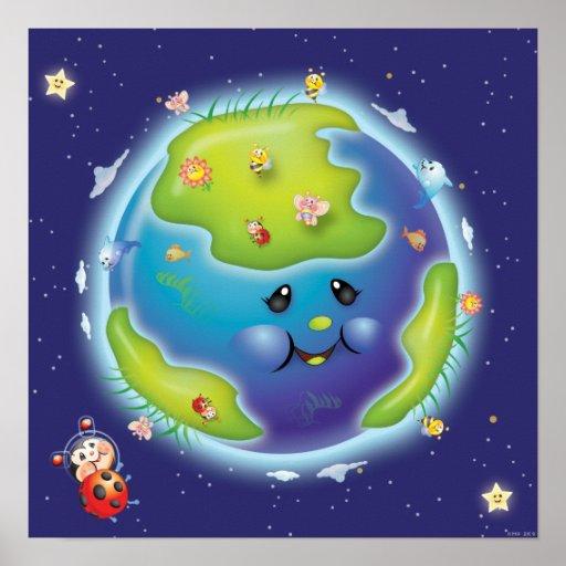 Ladybug Earth Poster