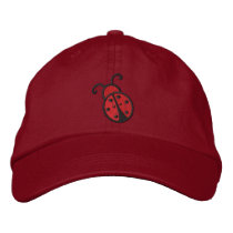 Ladybug Embroidered Baseball Hat