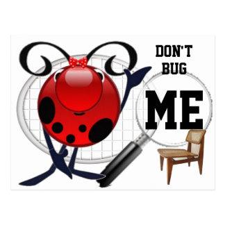 Ladybug empty chair and spy glass post card