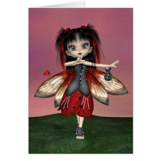 """""""Ladybug Fae"""" Greeting Card"""