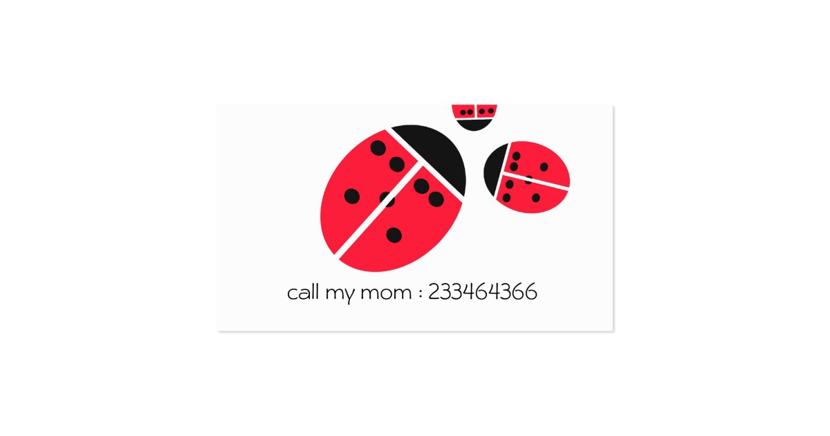 Ladybug family business card zazzle for Family business cards