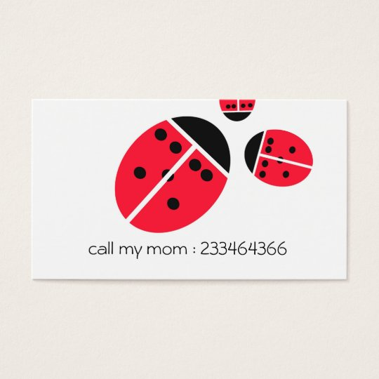 ladybug family business card