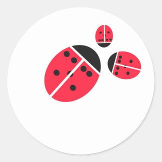 ladybug family classic round sticker