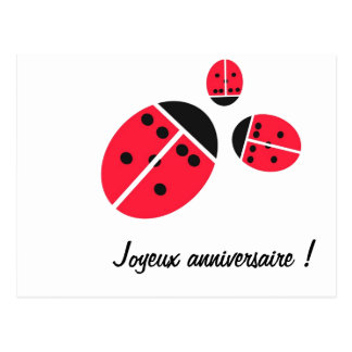 ladybug family postcards