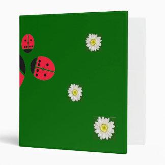 ladybug family vinyl binder