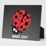 Ladybug; Faux Carbon Fiber Display Plaque