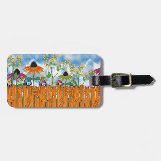 Ladybug Fence Bag Tag