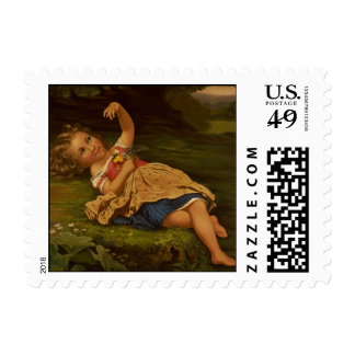 """Ladybug"" Fine Art Postage Stamp"