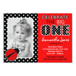 Ladybug First Birthday Party 4.5x6.25 Paper Invitation Card