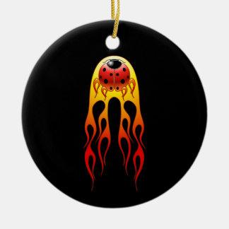 Ladybug Flame Ornament