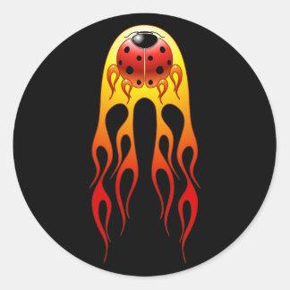 Ladybug Flames Sticker