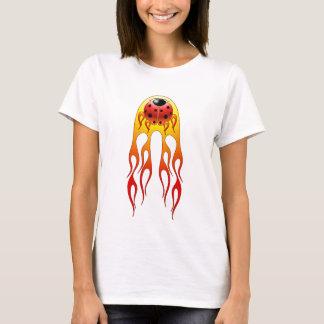 Ladybug Flames Womens Shirt