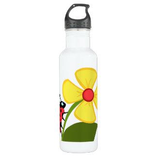 Ladybug Flower 24oz Water Bottle