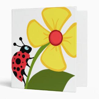 Ladybug Flower 3 Ring Binder