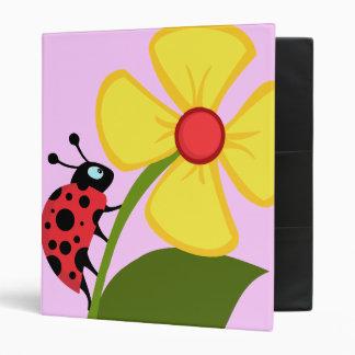 Ladybug Flower Binder