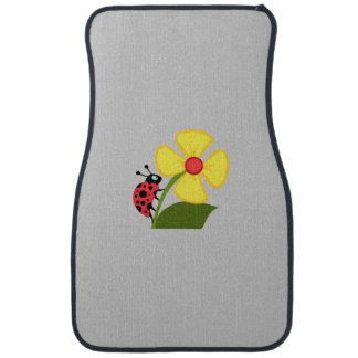 Ladybug Flower Car Floor Mat