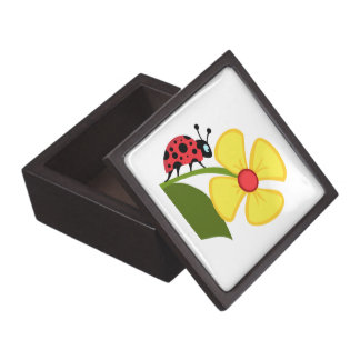 Ladybug Flower Jewelry Box