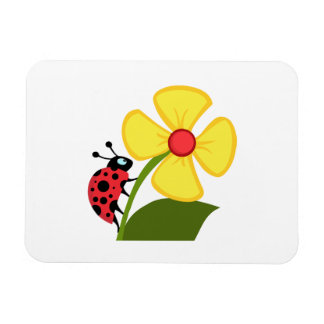 Ladybug Flower Magnet