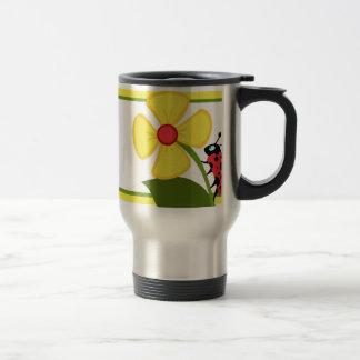 Ladybug Flower Mug