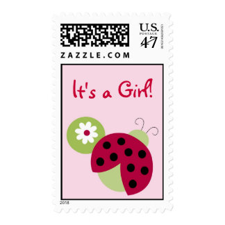 Ladybug Flower Personalized Postage Stamps