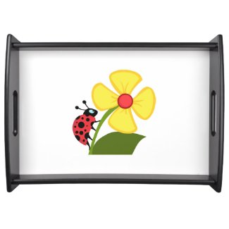 Ladybug Flower Personalized Serving Trays