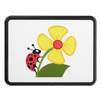 Ladybug Flower Tow Hitch Cover