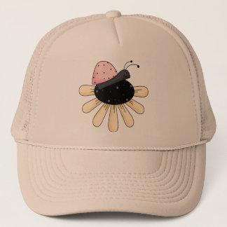 Ladybug Flower Trucker Hat