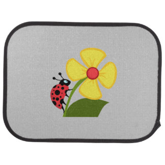 Ladybug Flower Floor Mat