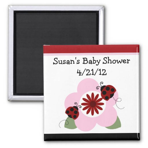 Ladybug & Flowers 2 Magnet/Keepsake/Party Favor Magnet