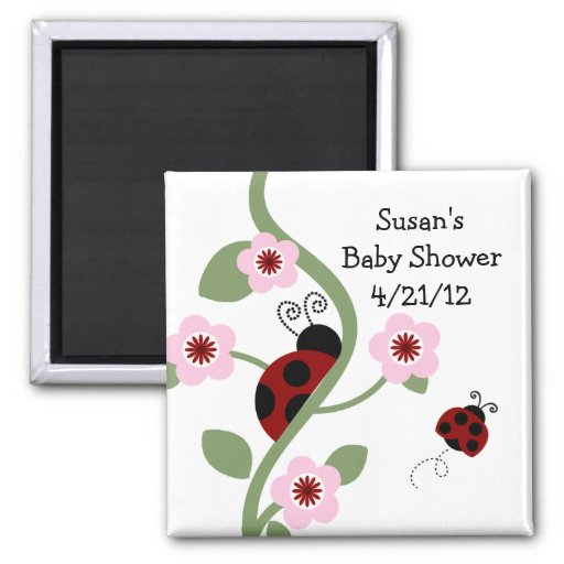Ladybug & Flowers Magnet/Keepsake/Party Favor Magnet