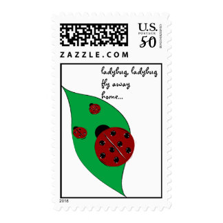 Ladybug fly away home stamp - Customized