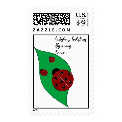 Ladybug fly away home stamp - Customized