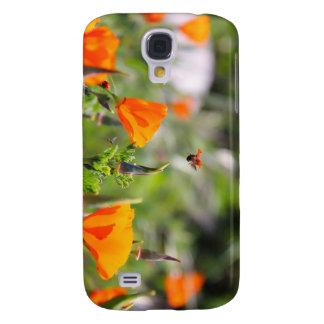 Ladybug flying off flower samsung galaxy s4 cases