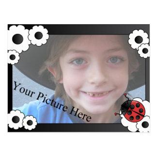 Ladybug Frame Postcard