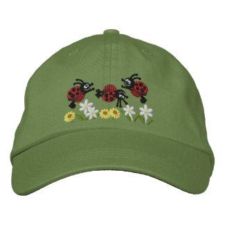 Ladybug Garden Embroidered Hats