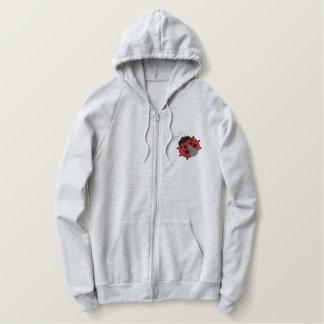 Ladybug Garden Embroidered Hoodie