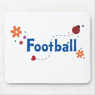 Ladybug Garden Football Mouse Pad