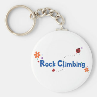 Ladybug Garden Rock Climbing Basic Round Button Keychain