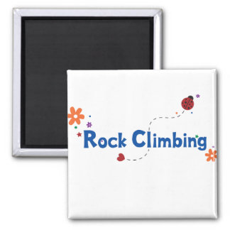 Ladybug Garden Rock Climbing 2 Inch Square Magnet