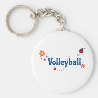 Ladybug Garden Volleyball Basic Round Button Keychain