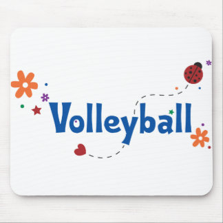 Ladybug Garden Volleyball Mouse Pad