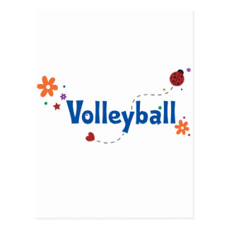 Ladybug Garden Volleyball Postcard