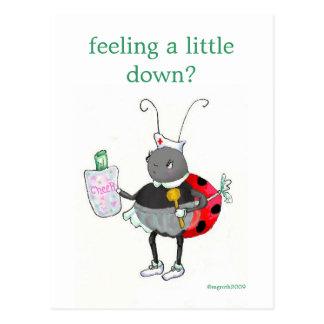 ladybug get well post card