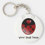 Ladybug Gifts Basic Round Button Keychain