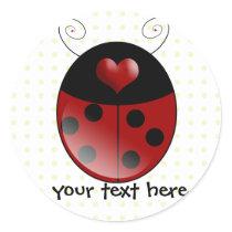 Ladybug Gifts Classic Round Sticker